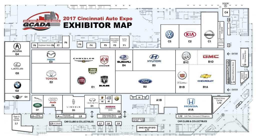 2017 Auto Expo Floor Plan
