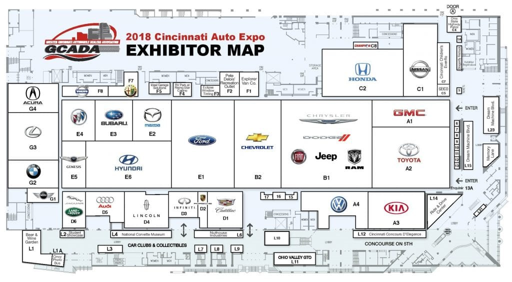 Floor Plan Cincinnati Auto Expocincinnati Auto Expo