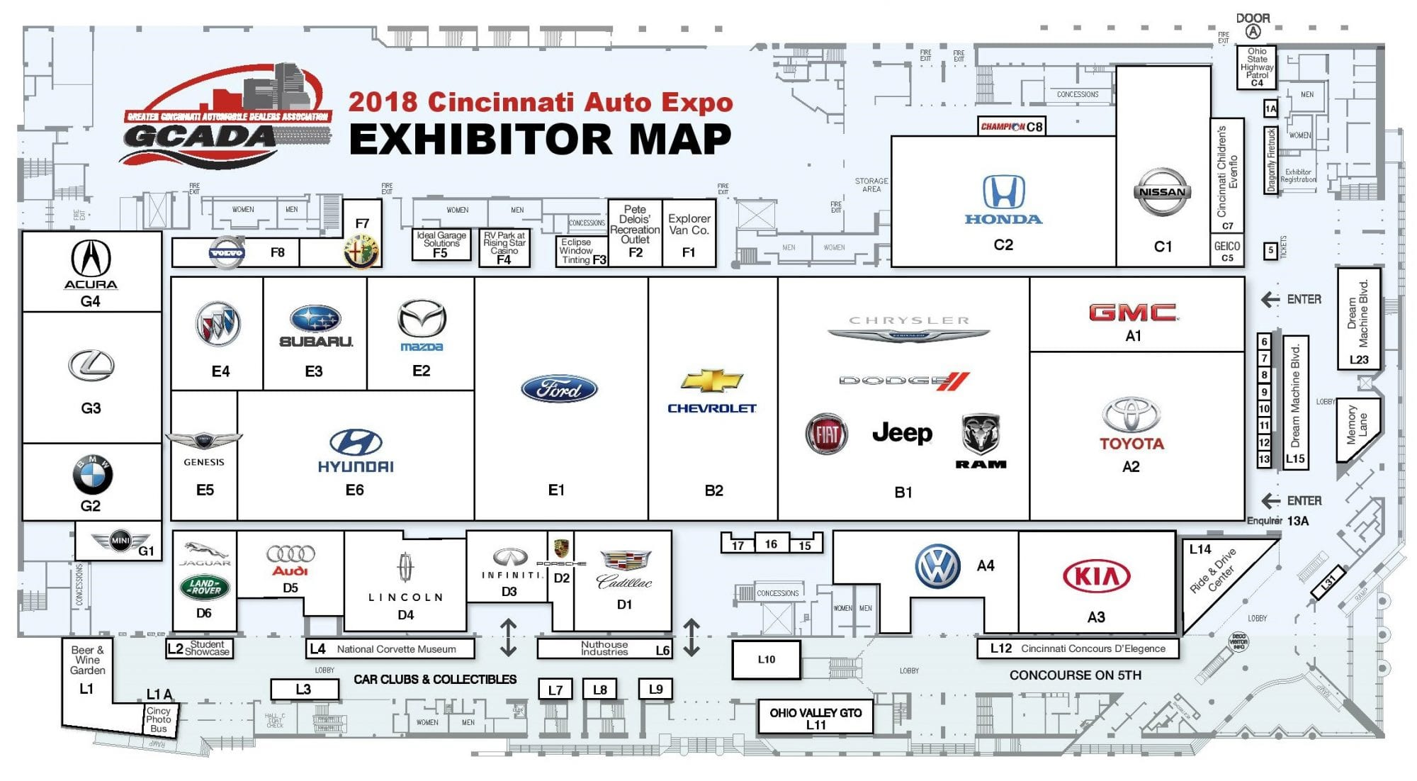 Floor plan cincinnati auto expocincinnati auto expo for Floor map design
