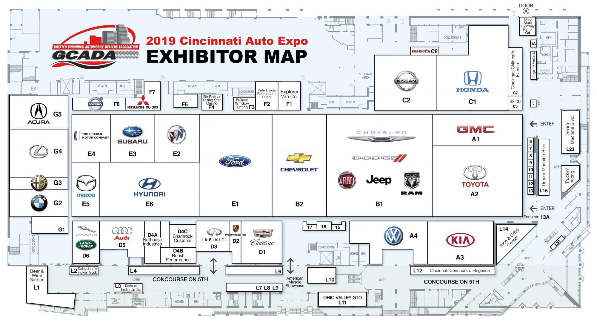 Cincinnati Auto Expo Map Cincinnati Auto Expocincinnati Auto Expo